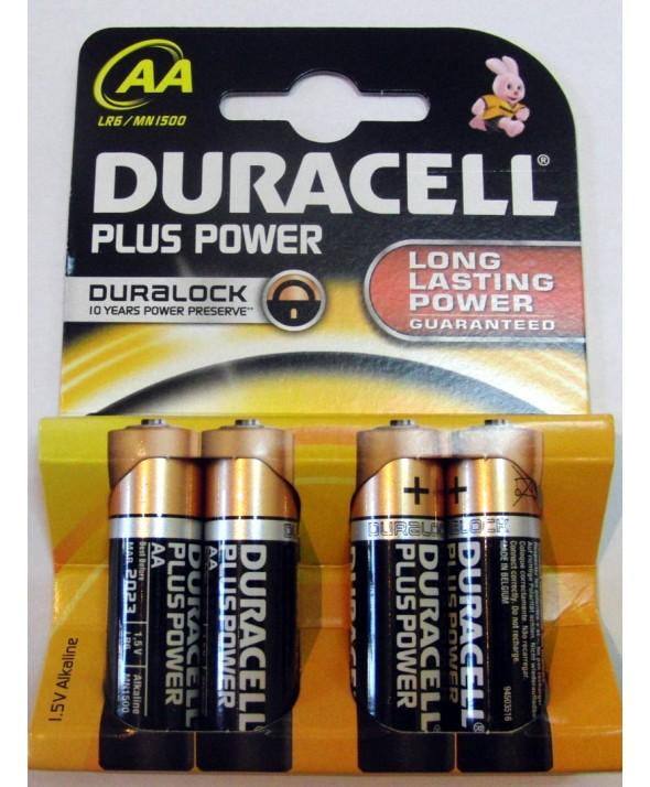 Pila alcalina lr-6 duracell plus nm1500 4 unidades