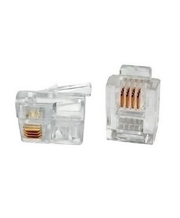 Conector telefonico rj11 6p4c cat.3