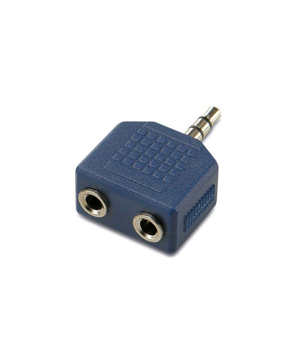 Adaptador jack 3.5 st/m a 2 jack 3.5 st/h granel