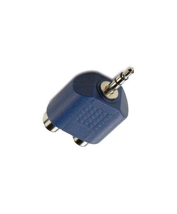 Adaptador jack 3.5 st/m a 2 rca h granel