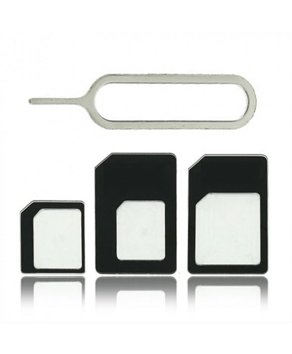Adaptador tarjeta sim micro/nano a sin 4 en 1