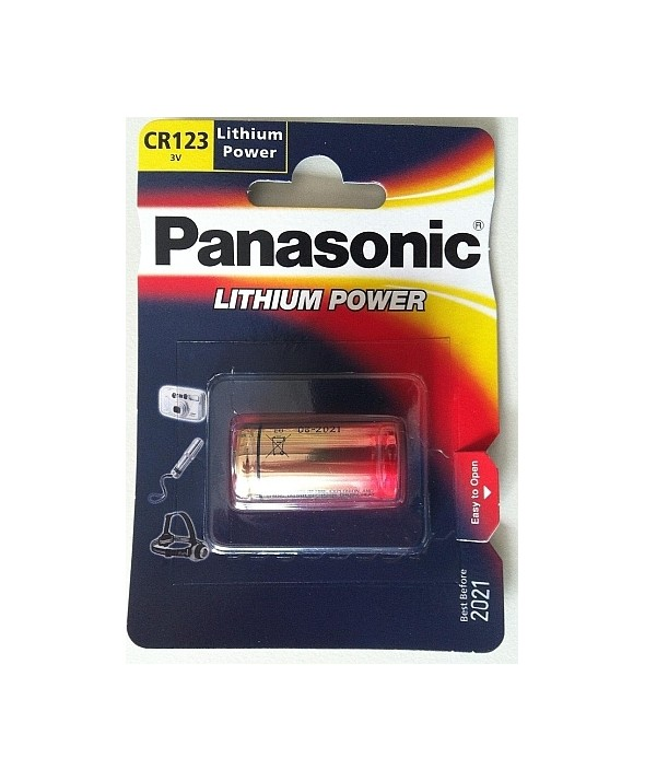 Pila litio cr-123a panasonic blister 1 unidad