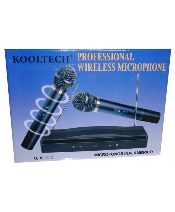 Microfono inalambrico doble kooltech mc-458