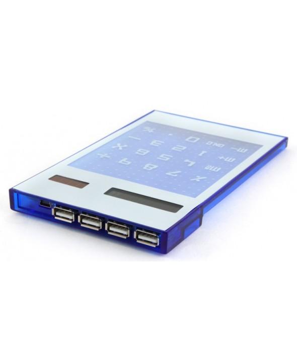 Hub 4 puertos+ calculadora solar usb 3.0 uhb-24c1