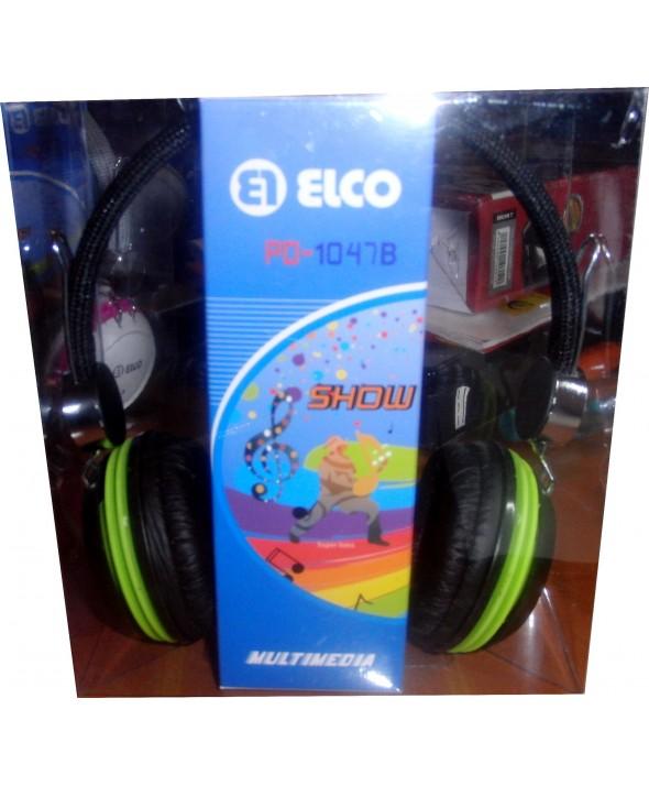 Auricular elco diadema pd1047b ø40mm negro/verde
