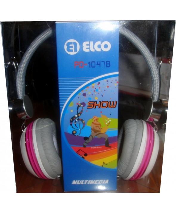 Auricular elco diadema pd1047 ø40mm blanco/rosa