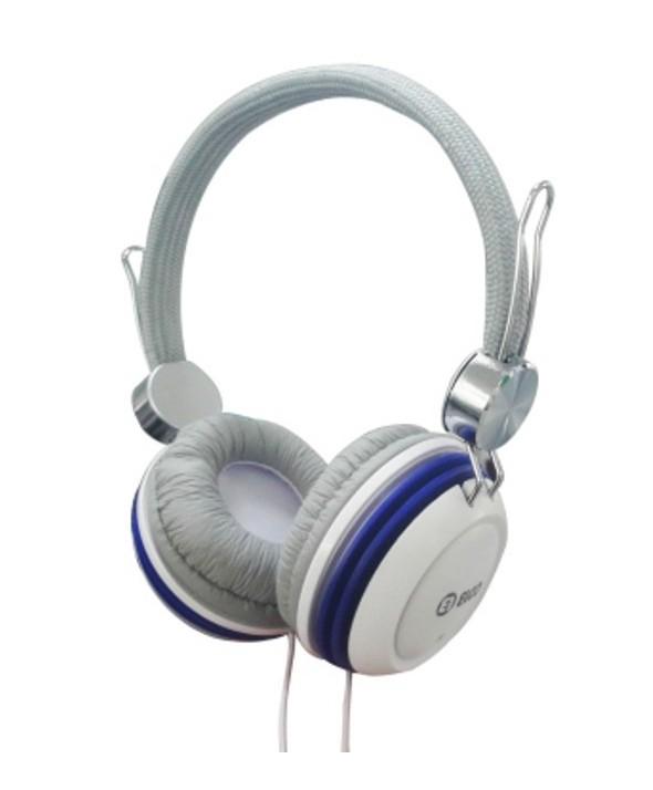 Auricular elco diadema pd1047 ø40mm blanco/azul