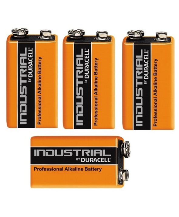 Pila alcalina lr-9 duracell-industrial caja 10 unidades