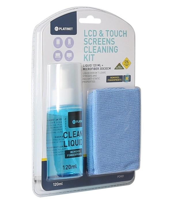 Limpiador spray 120ml platinet lcd/cristal+paño