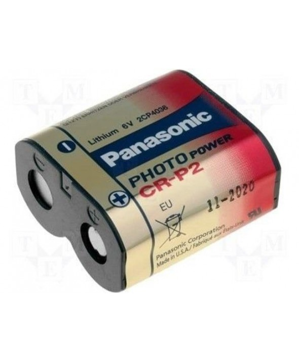 Pila litio cr-p2 panasonic blister 1 unidad