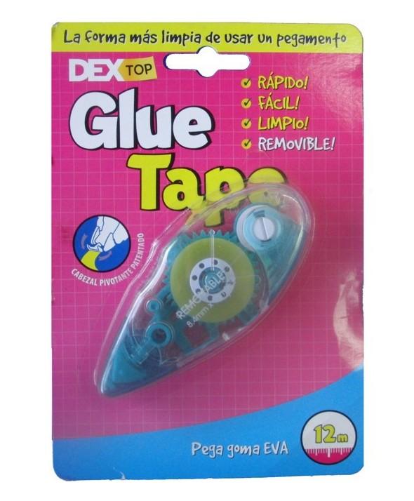 Dextop glue tape 8.4mm x 12m aplicador goma eva pe