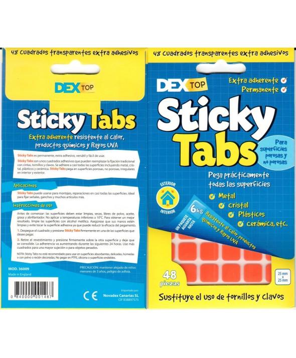 Dextop stcky tab 48 doble cara (12x12mm) int/exter