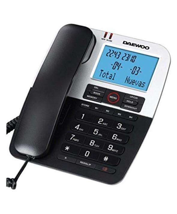 Telefono fijo daewoo pantalla retroiluminada negro