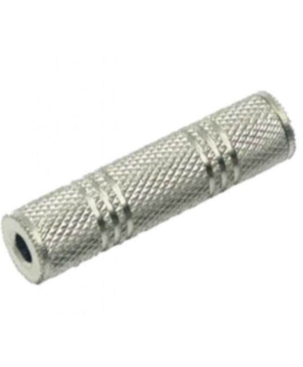 Adaptador jack 3.5 st hembra-hembra metal granel