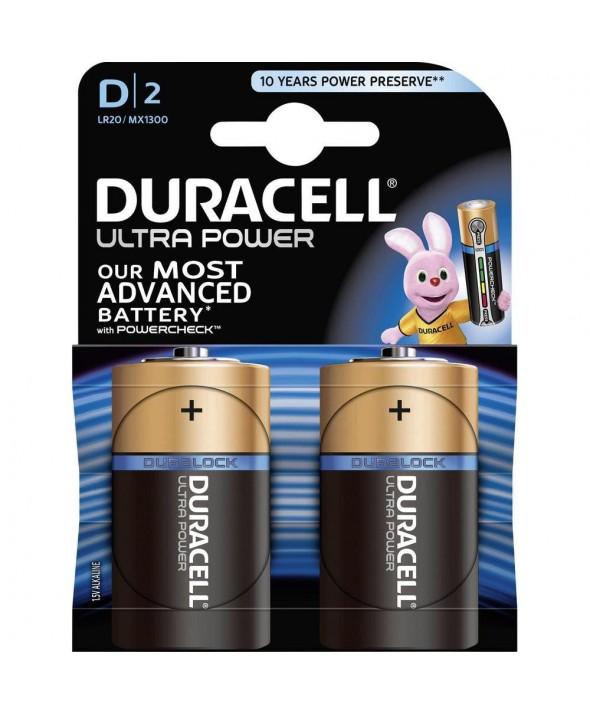 Pila alcalina lr20 duracell ultra um3 2 unidades