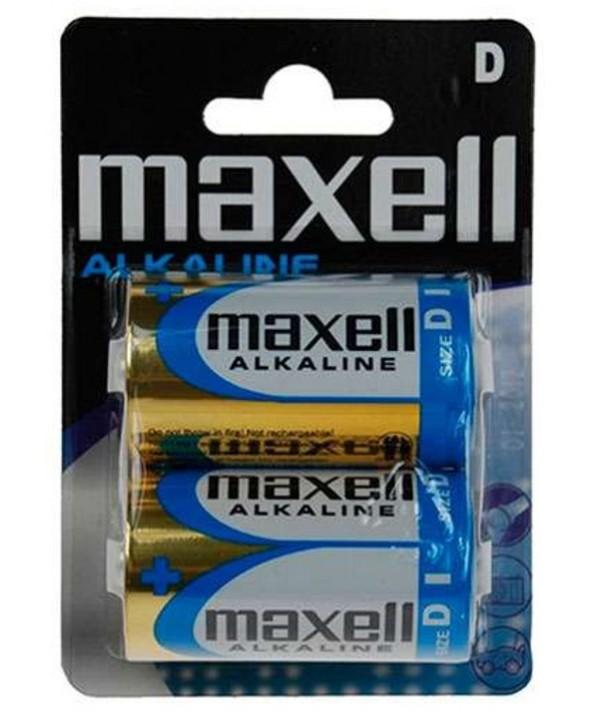Pila alcalina lr20 mxl maxell blister 2 unidades