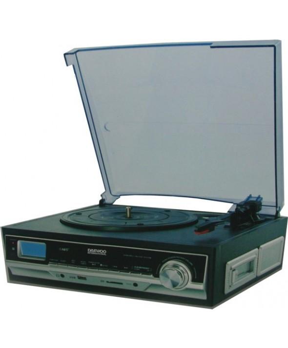 Tocadiscos con cassette multimedia daewoo