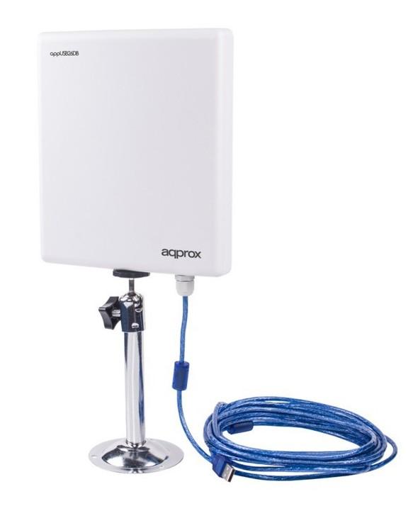Antena panel 26dni wireless n direccional 2w usb adapter
