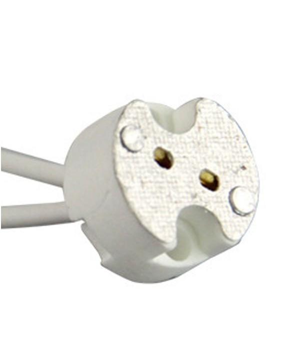 Portalamparas halogeno gu 5.3 mr16 0.2 m cable