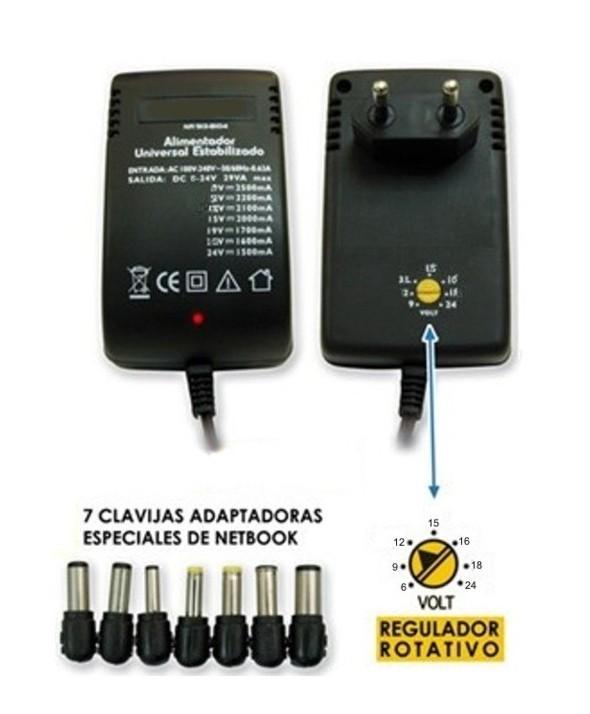 Alimentador universal ac/dc 2.8 a estabil. 6-24 v