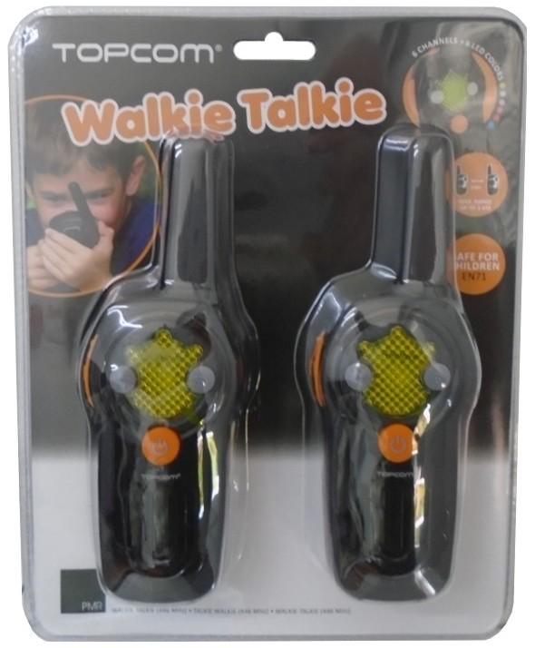 Walkie-talkie 3 km 6 canales pack duo infantil topcom