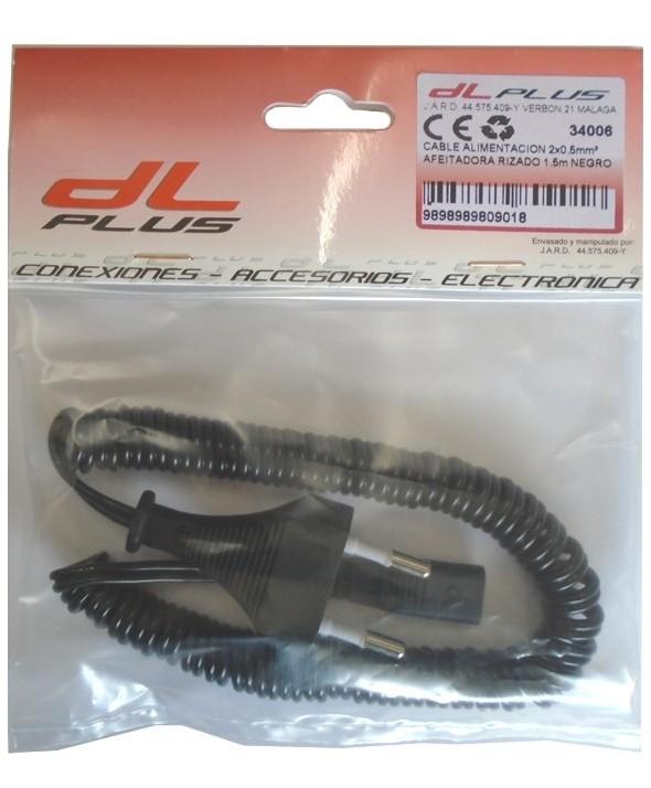 Cable alimentacion 2x0.5mm² afeitadora rizado 1.5m