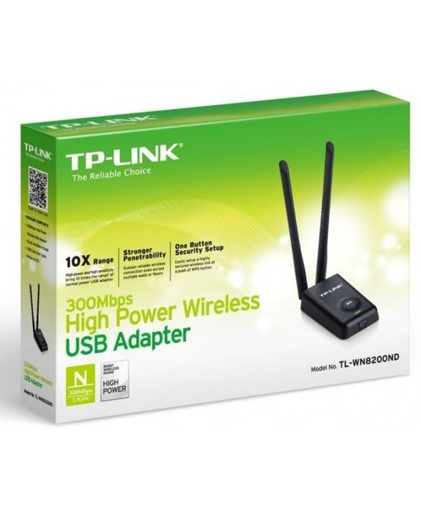 Tpl adaptador usb 300mb 2 antenas 5 dbi tp-link
