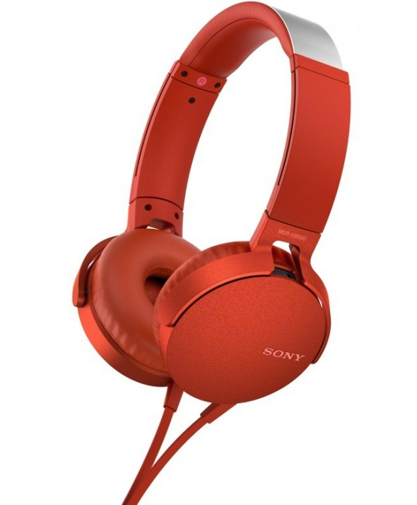 Auricular diadema extra bass sony m/l rojo
