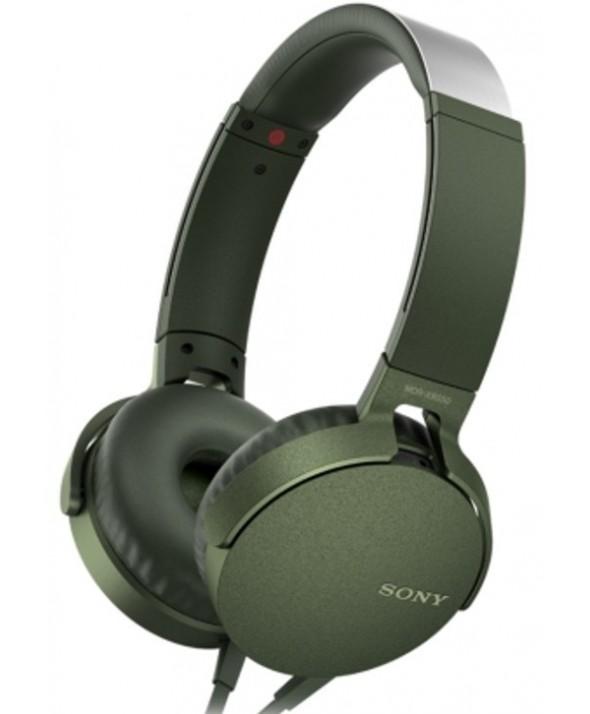 Auricular diadema extra bass sony m/l verde militar