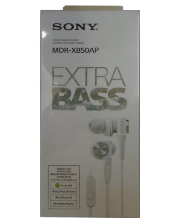 Auricular intraoido extra bass sony m/l blanco
