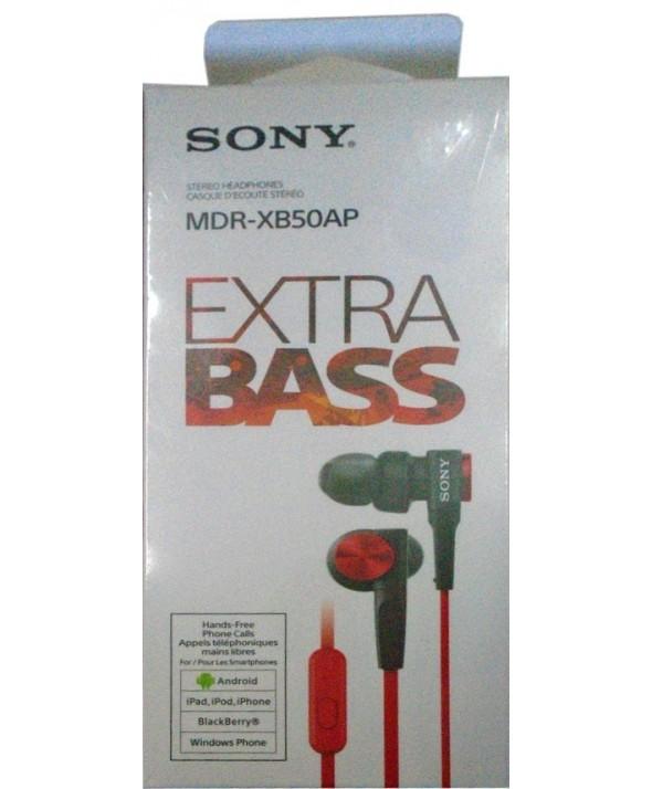 Auricular intraoido extra bass sony m/l rojo