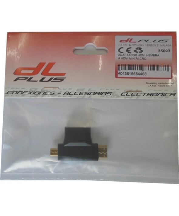 Adaptador hdmi hembra a hdmi mini/micro