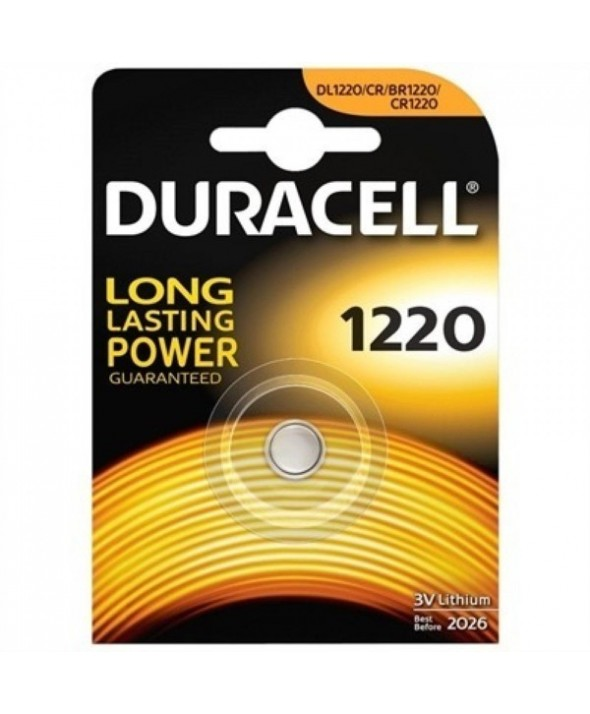 Pila litio cr1220 duracell blister de 1