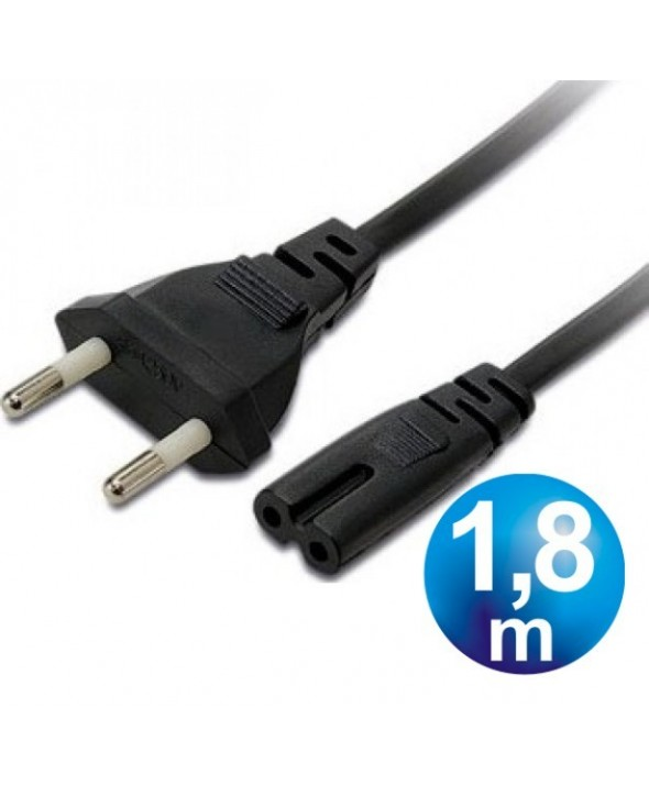 "Cable alimentacion 2x0.5 mm² tipo ""8"" 1.8 m"
