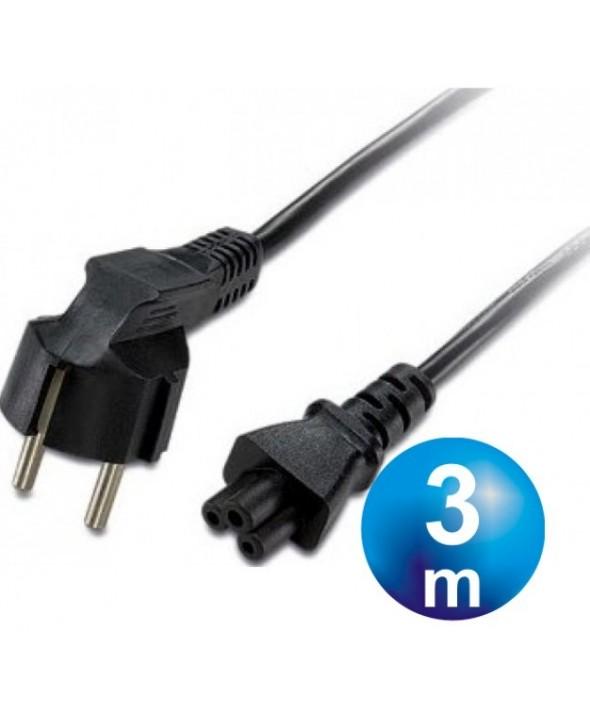 Cable alimentacion 3x0.75 mm² tipo trebol 3m