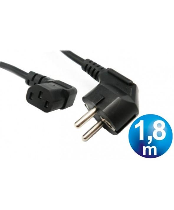 Cable alimentacion red-cpu acodado cable 1.8m