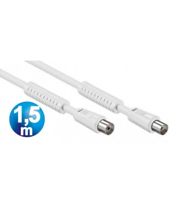 Conexion tv m/h 100 hz tdt filtros 1.5 m blanco
