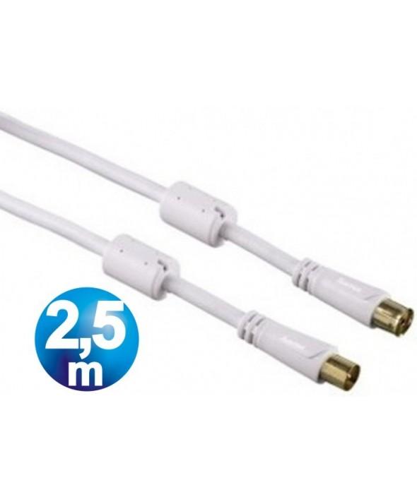 Conexion tv m/h 100 hz tdt filtros 2.5 m blanca