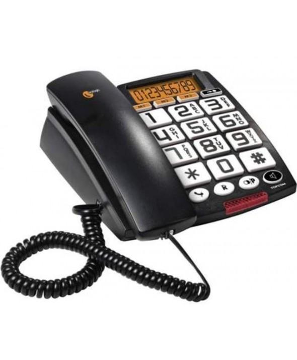 Telefono sobremesa teclas grandes pantalla topcom