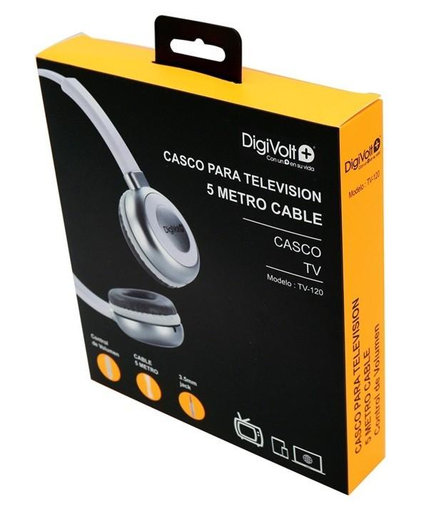 Auricular diadema digivolt tv cable de 5 mts.