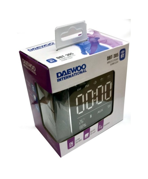 Altavoz multimedia bt/m-l/5w/alarma cubo daewoo rosa