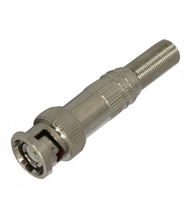 Conector bnc macho tornillo metal
