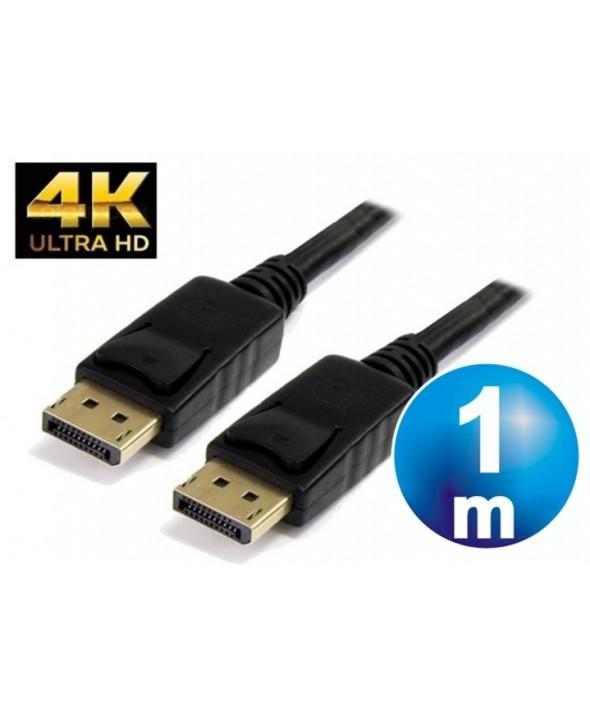 Conexion displayport 1.2 m/m 4k cable 1 m