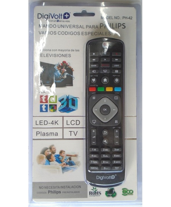 Mando a distancia compatible philips ph-42