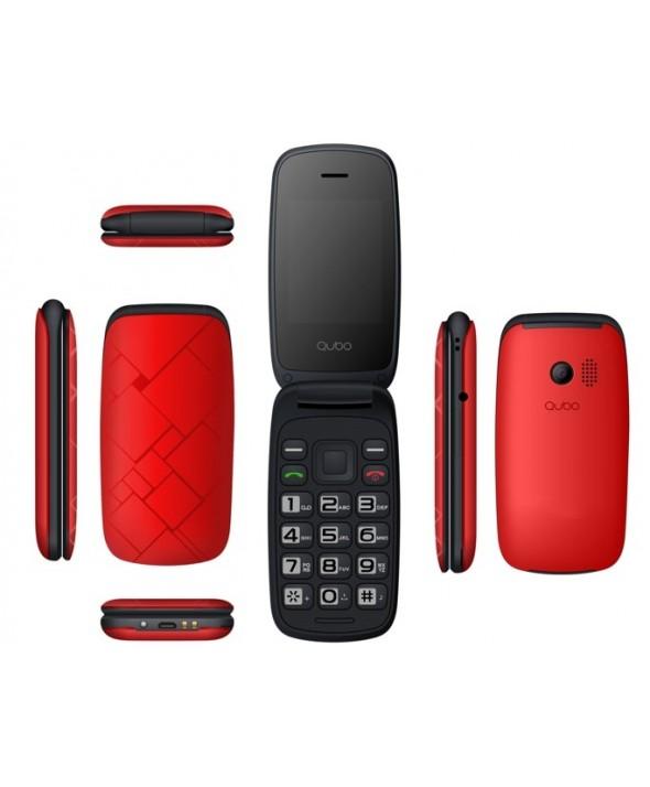 Telefono movil concha qubo neo rojo