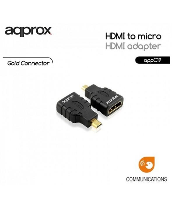 Adaptador hdmi hembra a micro hdmi approx appc19