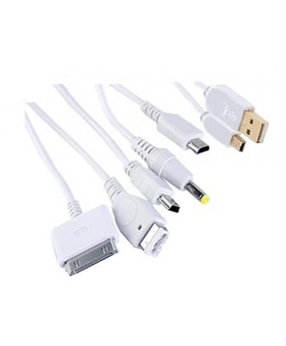 Kit 6en1 cable carga psp/gba/ndsl/ndsi/mini usb