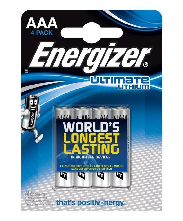 Pila lithium lr-3 aaa energizer l92 4 unidades