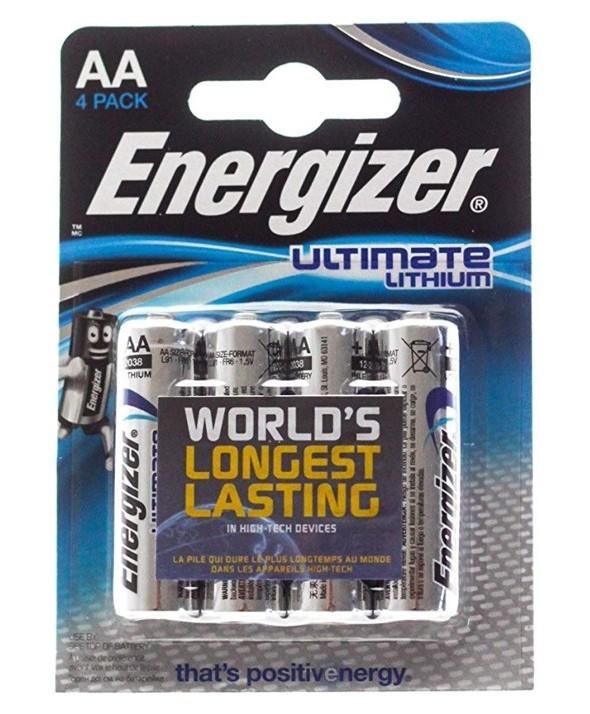 Pila lithium lr-6 aa energizer l91 4 unidades