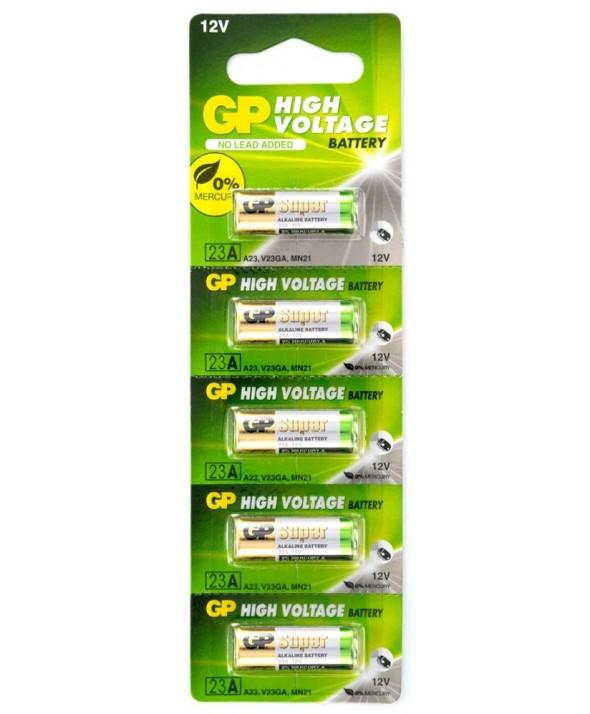 Pila alcalina 23a 12v gp blister de 5 unidades